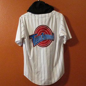 Warner Bros. Shirts - Space Jam  Button Down Jersey Hoodie TUNE SQUAD MD